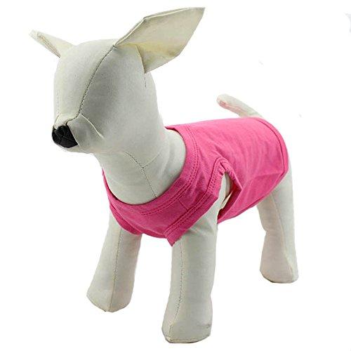 Kleidung Hundemantel mit T-Shirt Tee Shirt Tank Top Weste für kleine mittlere große Hunde Größe der Sommer-Kostüm, 11Farben aus 100% Baumwolle (Elf Kostüm Für Hunde)