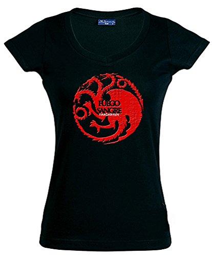 camiseta juego de tronos-Casa Tagaryen-manga corta chica (Talla: S Chica manga...