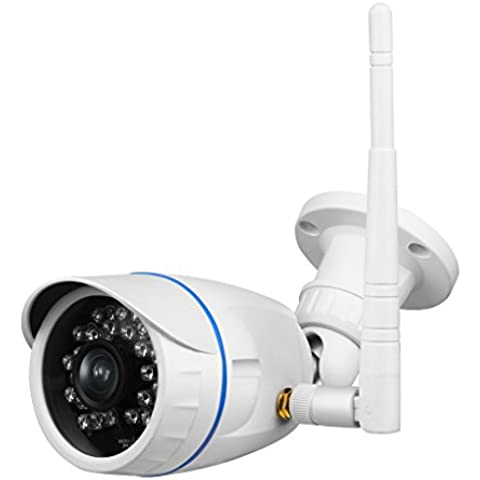 QHGstore Cámara de seguridad al aire libre impermeable 920p HD nube visión nocturna de detección de movimiento