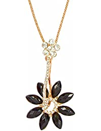 Rose Gold Necklace With Flower Charm Pendant For Women - Rose Gold Chain By FreshVibes
