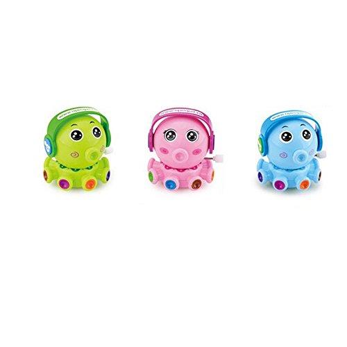 tfxwerws Lovely Kunststoff Uhrwerk Klein Krake Spielzeug Doodle auf der Kette drehbar Cartoon Spielzeug (Uhrwerk Kleinen)