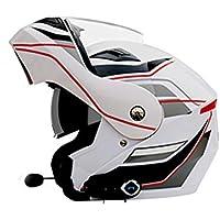 Multi-Función Motocicleta Bluetooth Casco Eléctrico Moto Doble Lente Cara Abierta Casco Hombres Y Mujeres Al Aire Libre Montar Casco Completo Cara,A,L