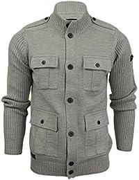Gilet/ Pull mélange de laine style militaire par Tokyo Laundry pour homme