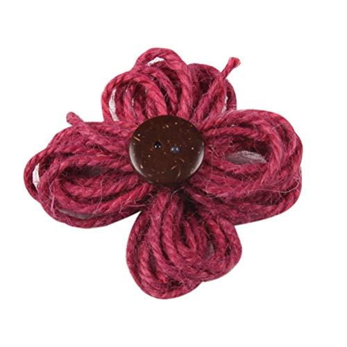 Toyandona 10 bunte Blumen-Verzierungen, Basteln, Haarband, Zubehör für Scrapbooking, Brosche, Kunstwerk, Bastelarbeiten, 10 Stück