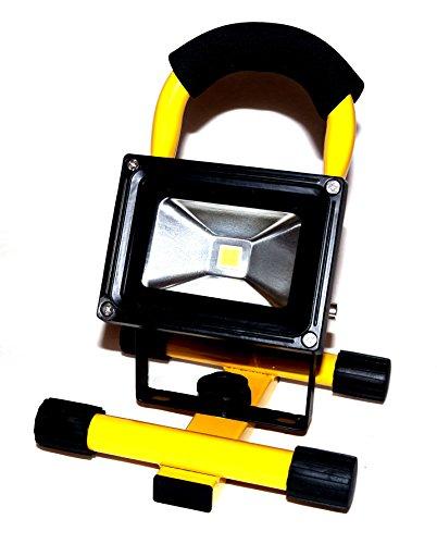 Tragbarer 10W Akku LED Innen & Aussen Baulicht Baustrahler Arbeitslampe Strahler Lampe Licht Leuchte