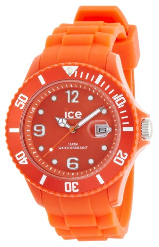 ICE-Watch Shadow Men's Quartz Watch with Orange Dial Analogue Display and Orange Silicone Bracelet SW.TAN.B.S.12