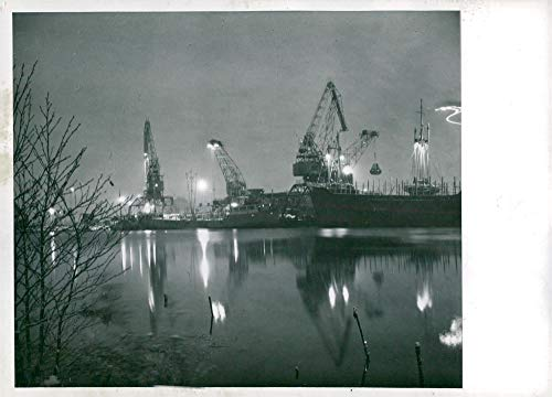 Fotomax Vintage Photo of The deep Harbor in Köping