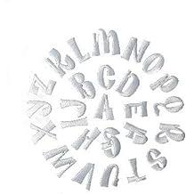 Parche de hierro bordado Yalulu 26 letras del alfabeto A-Z parches decorativos de reparación parches DIY