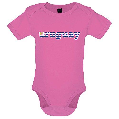 Dressdown WM 2018 - Uruguay - Lustiger Baby-Body - Bubble-Gum-Pink - 6 bis 12 Monate - Uruguay Wm