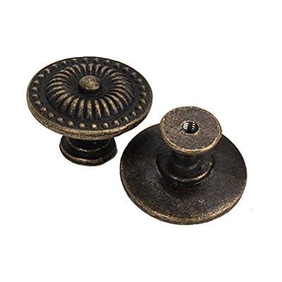 BESTOMZ 4pcs Vintage Schublade Schrank Pull Griff Knopf (Bronze) von BESTOMZ - Gartenmöbel von Du und Dein Garten