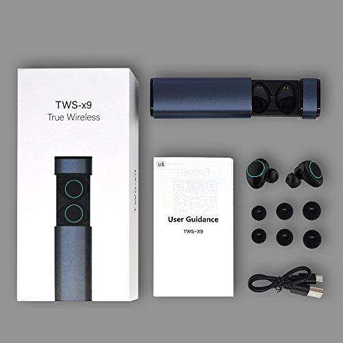 HolyHigh Bluetooth Kopfhörer in Ear Bluetooth Headset Stereo-Minikopfhörer Sport Wasserdicht mit Ladekästchen und Integriertem Mikrofon für Android Samsung iPad Huawei HTC (Dämmerung) - 7