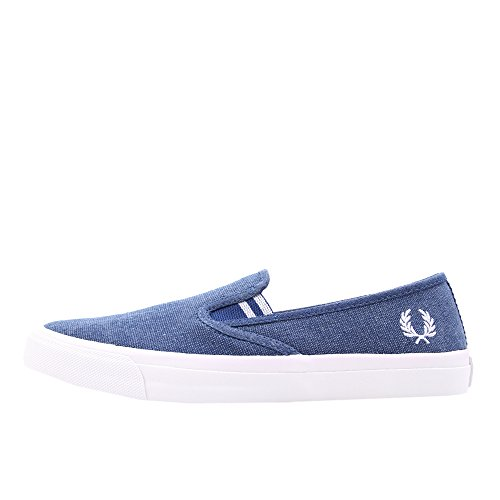 Fred Perry Turner Slip On Pigment Dyed Canvas Cobalt Blue 43