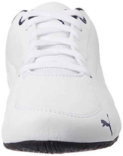 Puma Unisex-Erwachsene Drift Cat 5 Leather Sneaker White (White/Blue Heaven)