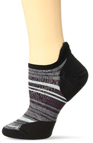 Smartwool Women's PhD Run Light Elite Striped Micro Socks (Black) Small - Smartwool Womens Running Light
