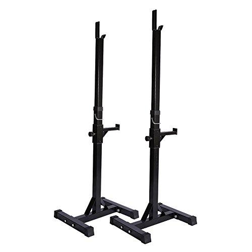 Ein Paar verstellbare Standard massiv Stahl Gym gedrungene Barbell rack Ständer Barbell freie Presse Gewicht Bench Unterstützung