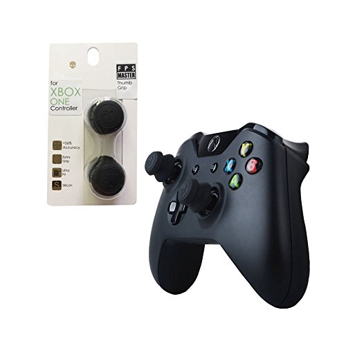 CQC Elite Schädel Kopf Silikon Grip Thumb Joystick Kappe für Xbox One Controller schwarz ... (FPS Master, schwarz)