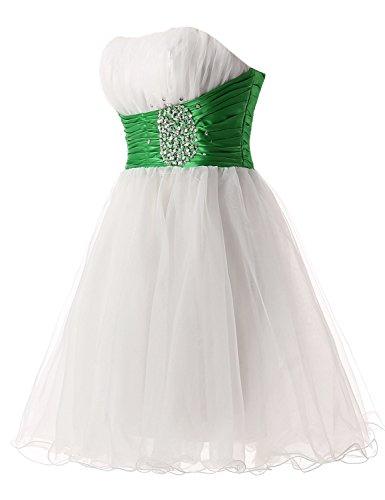 Sarahbridal Damen Tüll Abendkleider Kurz Herzenform Abschlusskleider Ballkleid mit Paillette SSD032 Gelb-018