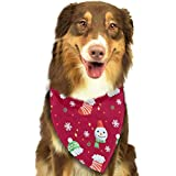 Osmykqe Frohe Weihnachten Mode Weiche Comforable Dog Cats Bandana Bunte Designer Puppy Lätzchen Kopftuch
