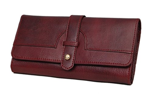 Borse Women Brown Genuine Leather Wallet  (4 Card Slots)