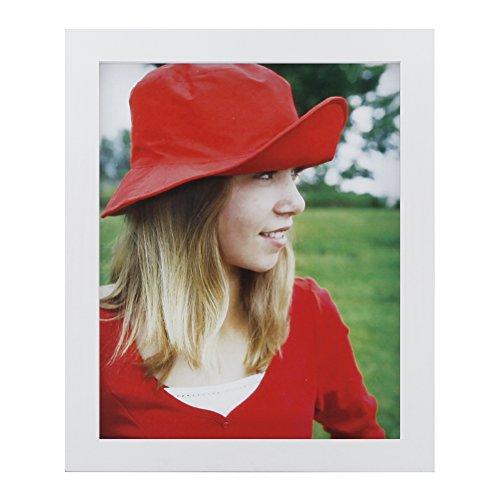 20.3x25.4cm (8x10 Inch) Bilderrahmen aus Massivholz High Definition-Glas für Bilder ohne Passepartout zur Wandbefestigung Fotorahmen Weiße (Holz Bilderrahmen 8x12)