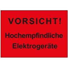 Bitte nicht stapeln ! Verpackungskennzeichen 500 Stk PE-Folie 210 x 148 mm Paketaufkleber Versandetikett Do not stack