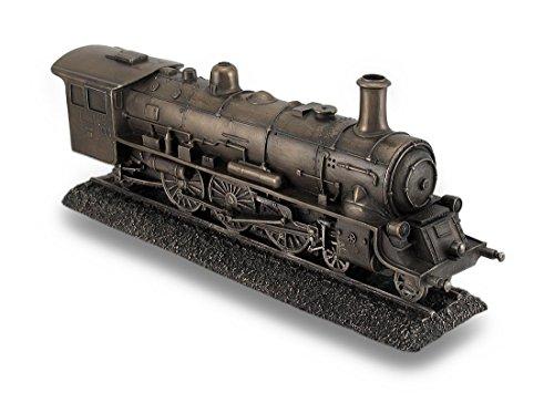Bronze Finish Dampflokomotive Motor Statue unglaublich Detaillierte Zug -
