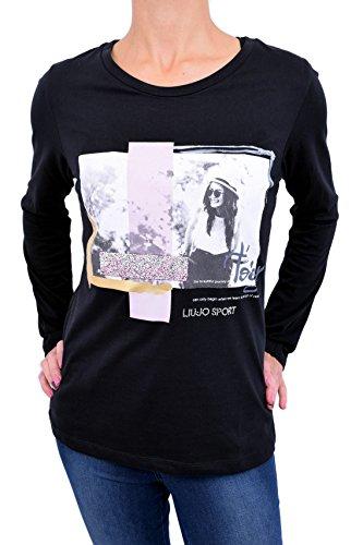 <p>LIU JO SPORT T-shirt manica lunga stampa frontale donna, T66101 nero, slim fit</p>