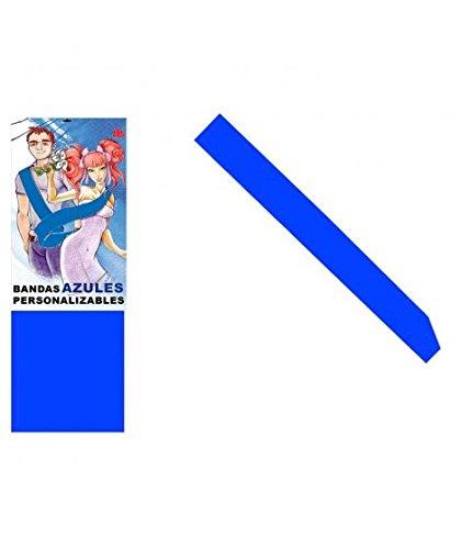 Banda Azul Personalizable para Fiestas