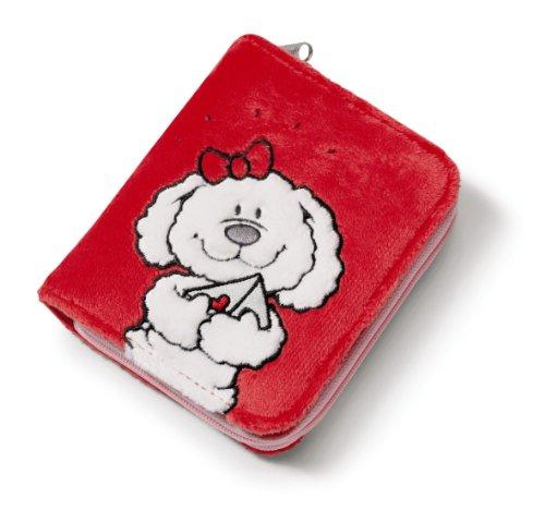 Imagen principal de Nici Loulou 33562 - Cartera de peluche, diseño perro, 12 x 9,5 cm, color rojo