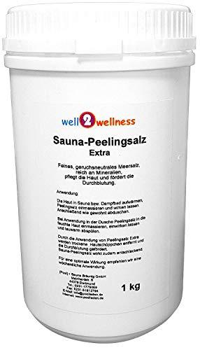 Machen Meer Salz Peeling (Sauna Peelingsalz Extra/Saunasalz fein 1,0 kg - 100% naturrein aus dem Toten Meer)