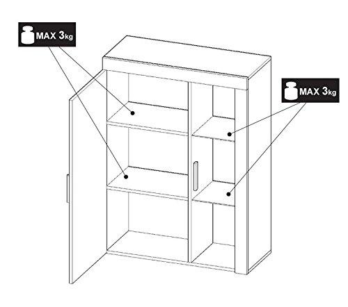 BLACK FRIDAY Begrenztes Angebot – MEG Moderne Wohnwand, Exklusive Mediamöbel, TV-Schrank, Neue Garnitur (Sonoma MAT base / Weiß MAT front) - 4
