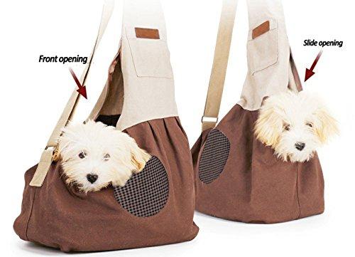 Pet Carrier Backpack Comfort Breathable Travel Tote Shoulder 100% Cotton Sling Bag with Pouch Adjustable Strap For Dog… 4