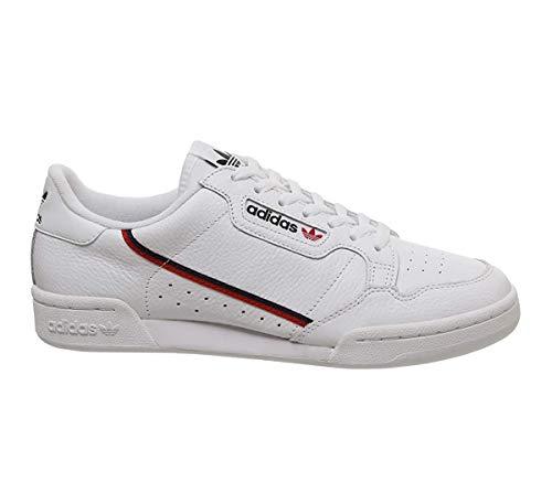 adidas Herren Continental 80 Sneaker, Weiß (Footwear White/Scarlet/Collegiate Navy 0), 43 1/3 EU
