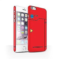 Stuff4® Matte Snap-On Hülle/Case für Apple iPhone 6/Rot Muster/Anime Cartoon Kodex Kollektion