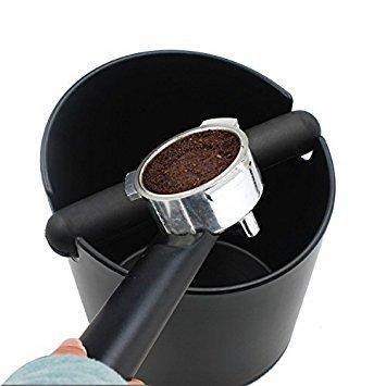 Yolococa Espresso Coffee Knock Box Container for Coffee grounds black by Yolococa