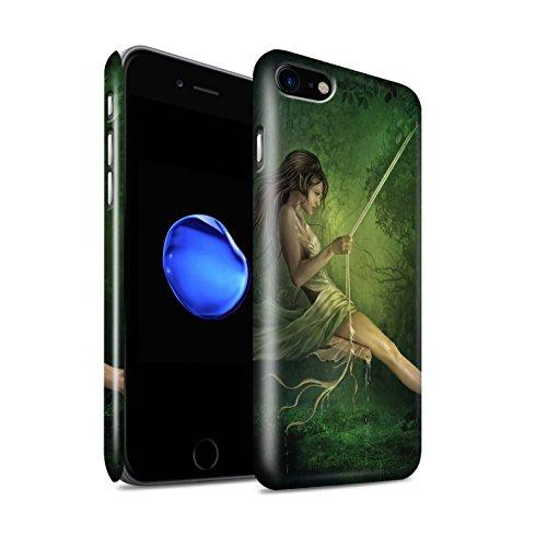 Officiel Elena Dudina Coque / Clipser Brillant Etui pour Apple iPhone 8 / Masque d'Hiver Design / Un avec la Nature Collection Balançoire Étang