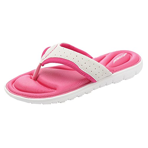 ops aus Gedächtnisschaum, Badeschuhe für den Strand- Gr. 41 EU / 8 UK / 11 US, White - Fuchsia (Christmas Elf Schuhe)