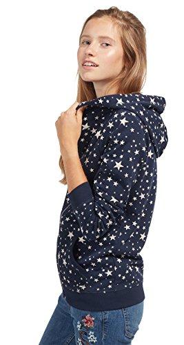 TOM TAILOR DENIM für Frauen Sweat Sweat-Jacke mit Sternen real navy blue