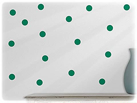 wandfabrik - Wandtattoo - 54 schöne Polka dots in grün