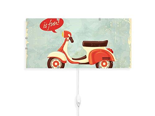 yourdea - Kinderzimmer Wandleuchten Wechsel Bild für IKEA GYLLEN 56cm mit Motiv: Riding Is Fun