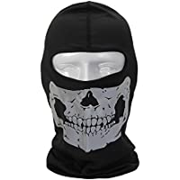 FaithYoo integrale da moto bicicletta maschera di teschio motoslitta cappuccio collo Passamontagna Cappello