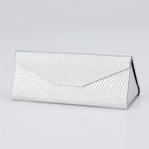 Arbre Brillenetui, dreieckig, faltbar, Sonnenbrillen-Box für Outdoor-Reisen (Silber)