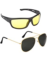 cbb0620168a ELLIGATOR Glasses for Driving at Day and Night Fishing Outdoor Anti Glare  Unisex Sunglasses (Yellow