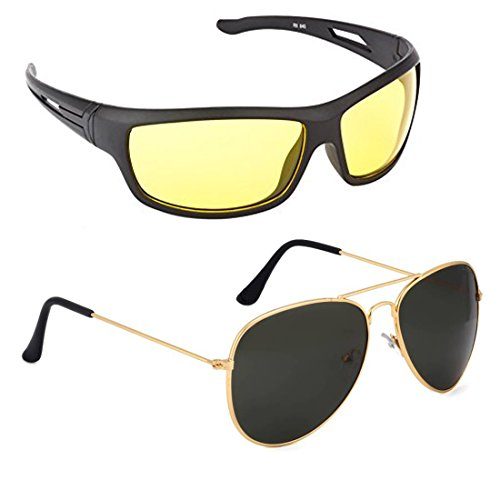 Elligator Glasses for Driving at Day and Night Fishing Outdoor Anti Glare Sunglasses