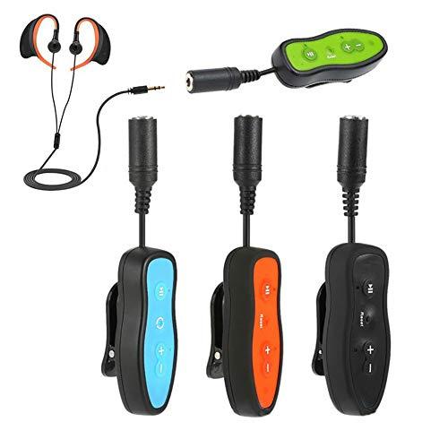 SVNA Wasserdichter MP3-Player 4 GB / 8 GB Kit mit FM-Radio und Unterwasserkopfhörern zum Schwimmen von Swimmer,Black,8GB