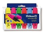 Pelikan 943316 - Textmarker 490 / 6, 6er Pack, sortiert in den Farben: gelb/rosa/grün/orange/blau/rot