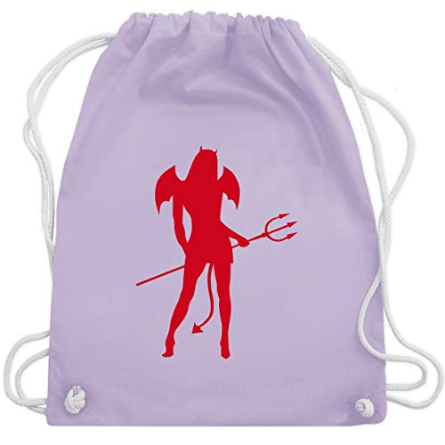 Sexy Kostüm Satan - Halloween - Sexy Teuflin - Unisize - Pastell Lila - WM110 - Turnbeutel & Gym Bag