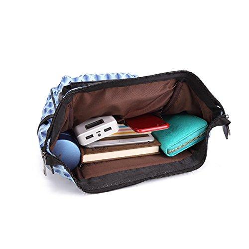 Beiläufige Beiläufige Dame-Schulter-Beutel-Handtaschen-Rucksack-Multifunktionsschultasche,Blue Blue