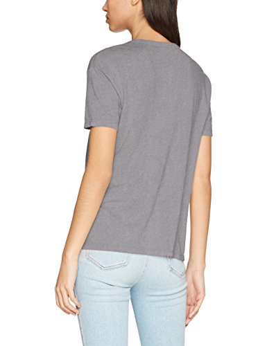ONLY Damen T-Shirt Onltoby S/S Wanted/Luxe Top Box Ess Grau (Charcoal Gray Print:Luxe)