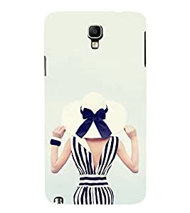 FUSON Nice Beach Hat Lady 3D Hard Polycarbonate Designer Back Case Cover for Samsung Galaxy Note 3 Neo :: Samsung Galaxy Note 3 Neo Duos :: Samsung Galaxy Note 3 Neo 3G N750 :: Samsung Galaxy Note 3 Neo Lte+ N7505 :: Samsung Galaxy Note 3 Neo Dual Sim N7502